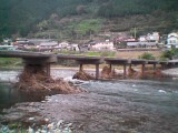 沈下橋下流から