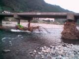 沈下橋上流から