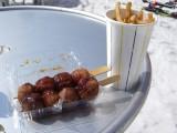 ランチのたこ焼き&ポテト