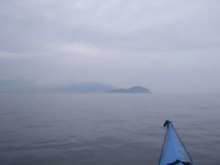 立島を目指す