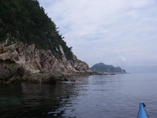 自然岩の海岸線
