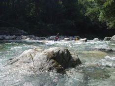 宇佐川渓谷の瀬