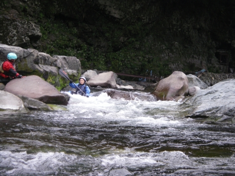 午後も続く岩の瀬