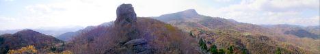 吉和冠山をクルソン岩から眺める