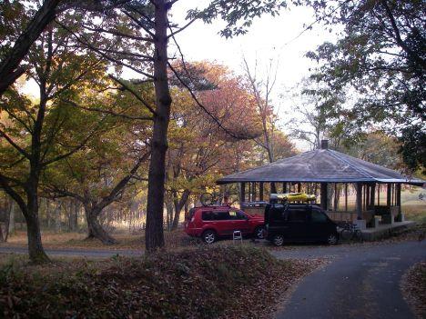 紅葉のキャンプ場