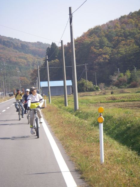 県道を走る