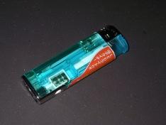 LEDライト付き電子ライター