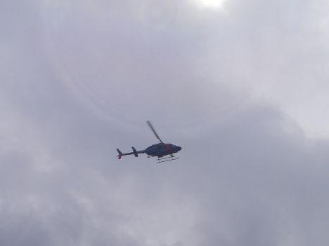 県警のヘリ