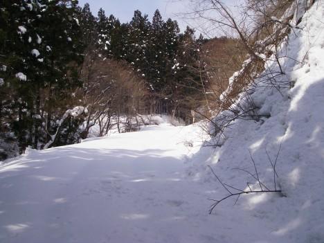雪深い県道