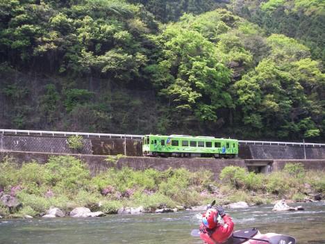 新緑色の清流線