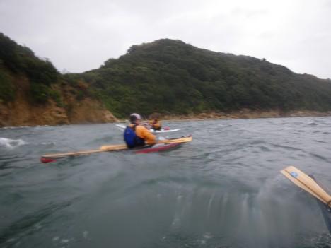 波の中の撮影