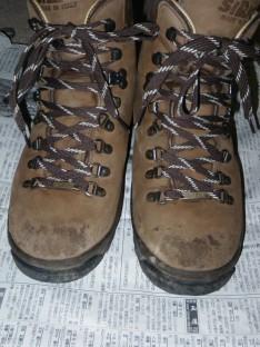 登山靴のシューレース