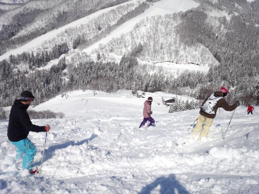 steep slope, deep snow