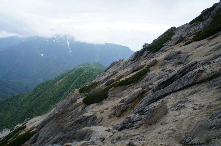 仙丈ヶ岳方面