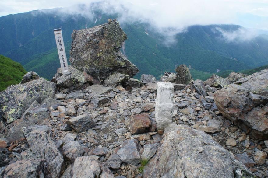 アサヨ峰三角点