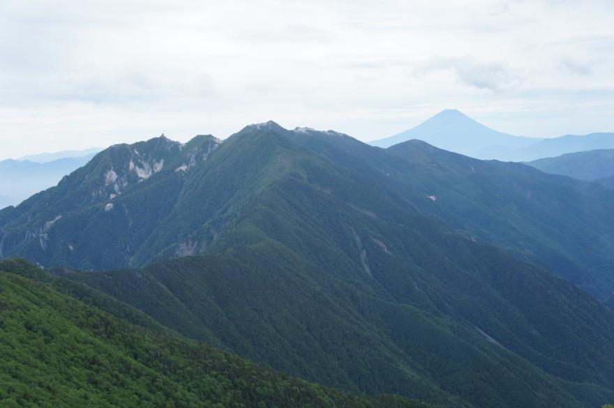 鳳凰三山と富士
