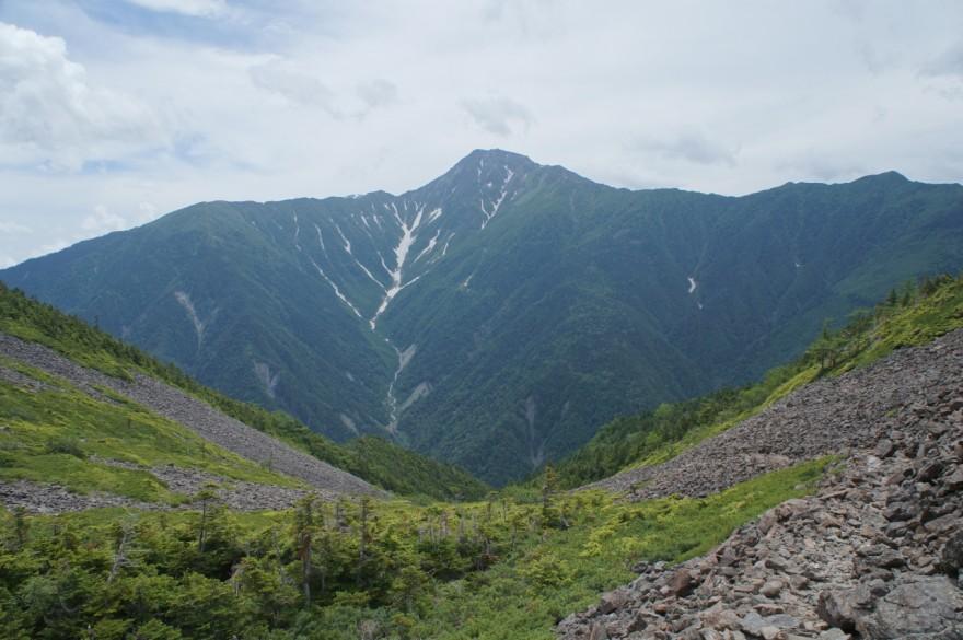 白鳳峠から北岳